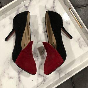 Crape Myrtle Shoes - Crape Myrtle black and red heels